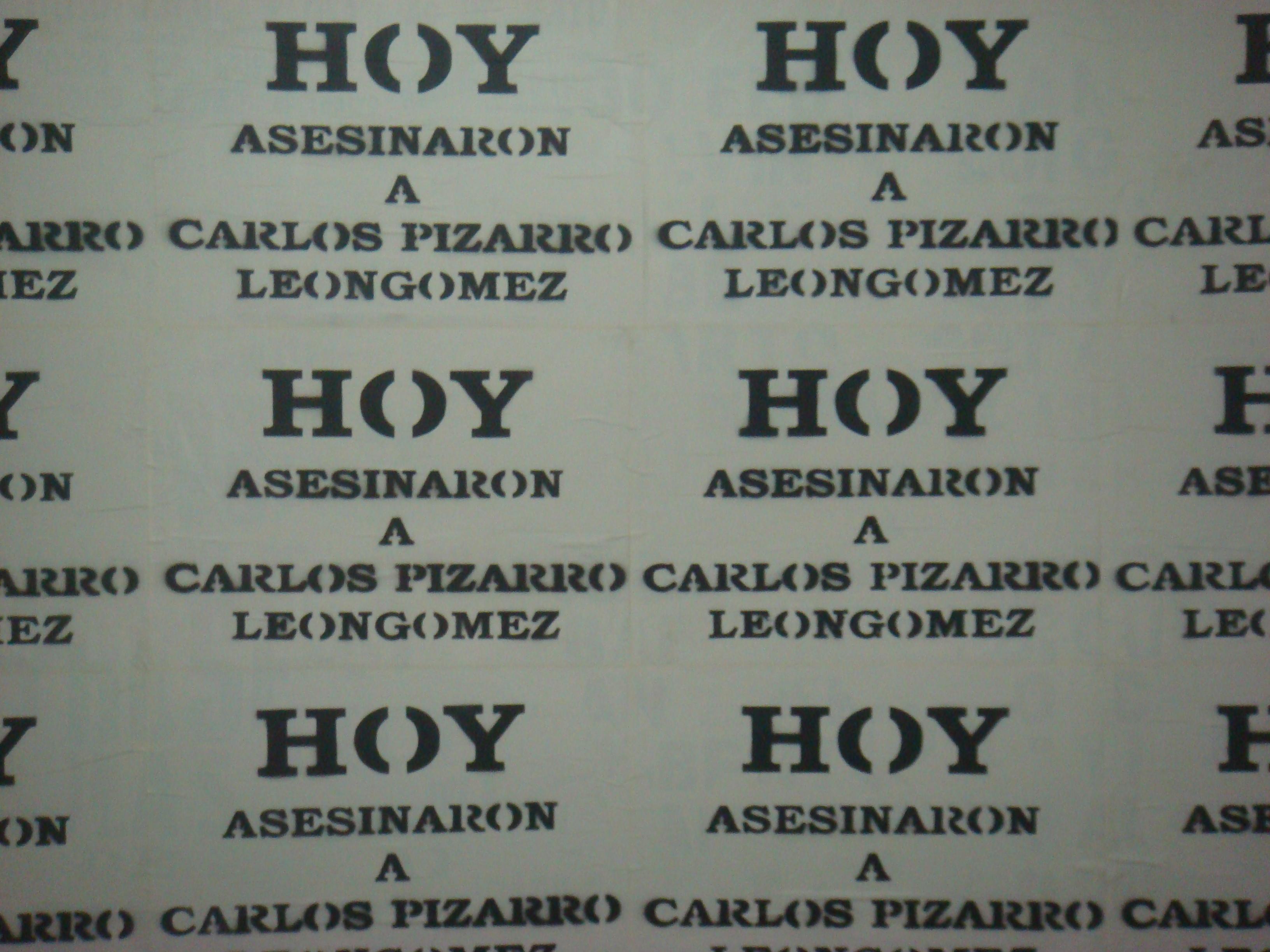 Leonardo Herrera - Hoy Asesinaron a Carlos Pizarro Leon Gomez (2010)